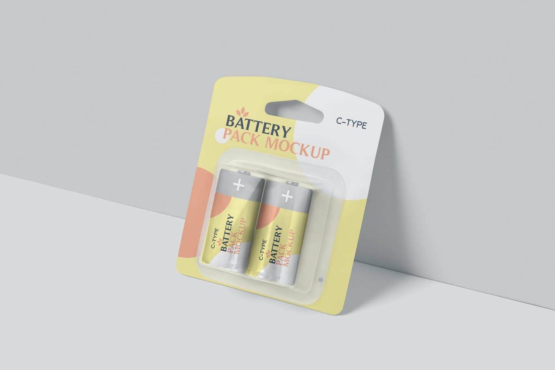 高品质的C型电池包装设计VI样机展示模型mockups designshidai_yj663