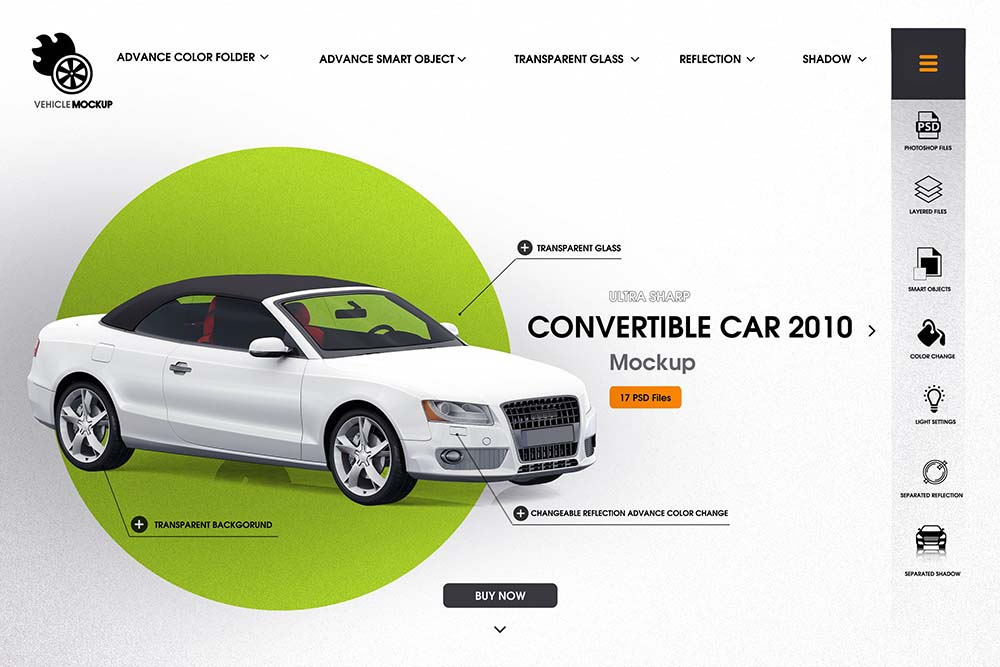 敞篷车汽车品牌设计样机designshidai_yj669