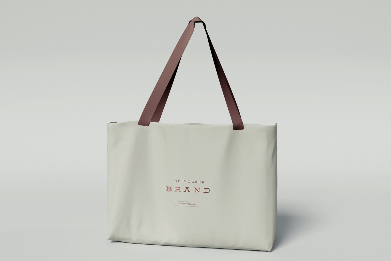 时尚高端优雅的购物袋手提袋无纺布袋VI设计样机展示模型mockups designshidai_yj679