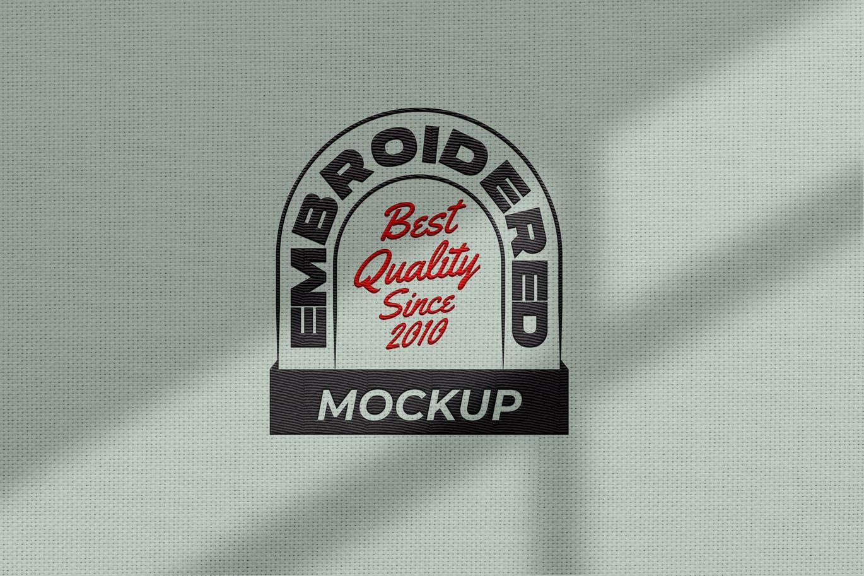 高品质的刺绣效果logo标志设计VI样机展示模型mockups designshidai_yj685