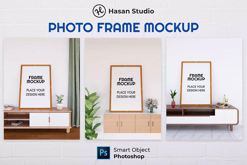 极简家居室内电视柜摆台相框框架场景designshidai_yj689