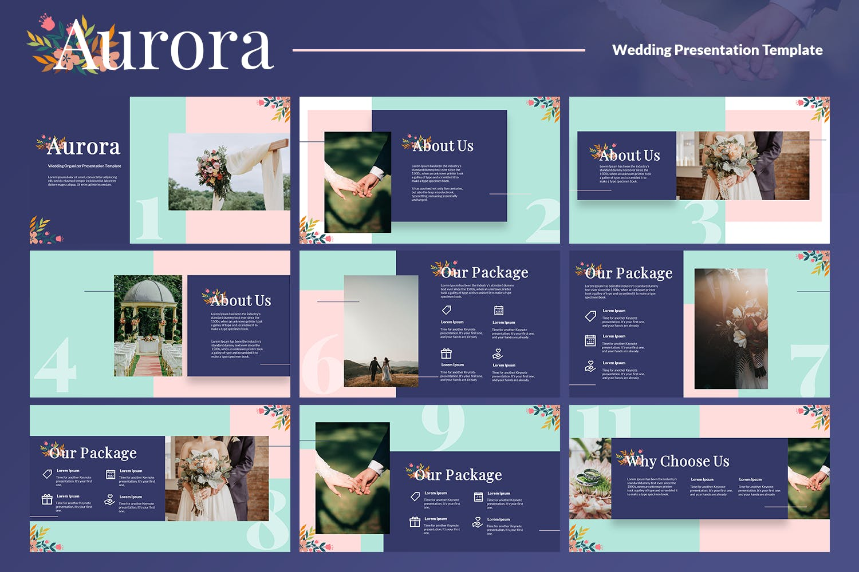 婚礼组织设计ppt模板designshidai_ppt0140