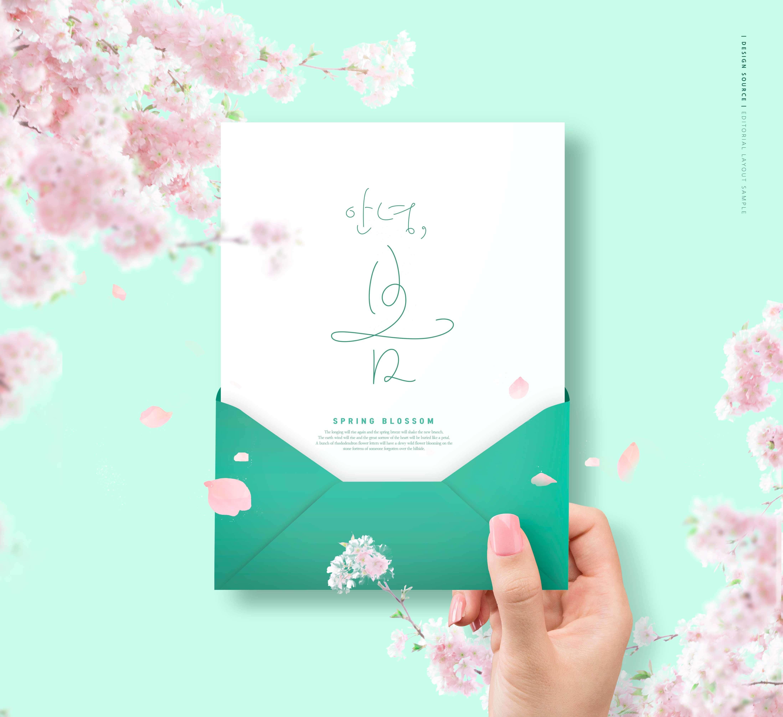 花卉信封春天海报素材designshidai_haibao47