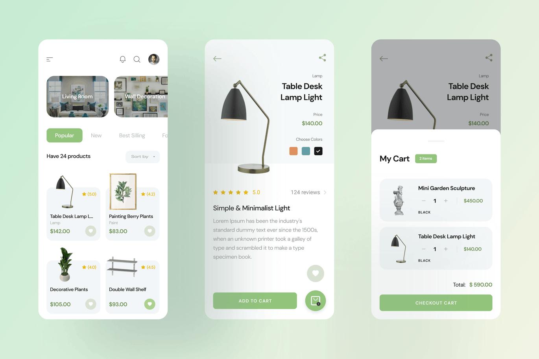 家庭装饰应用程序App UI  designshidai_ui213