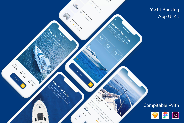 游艇预订应用程序UI工具包designshidai_ui176