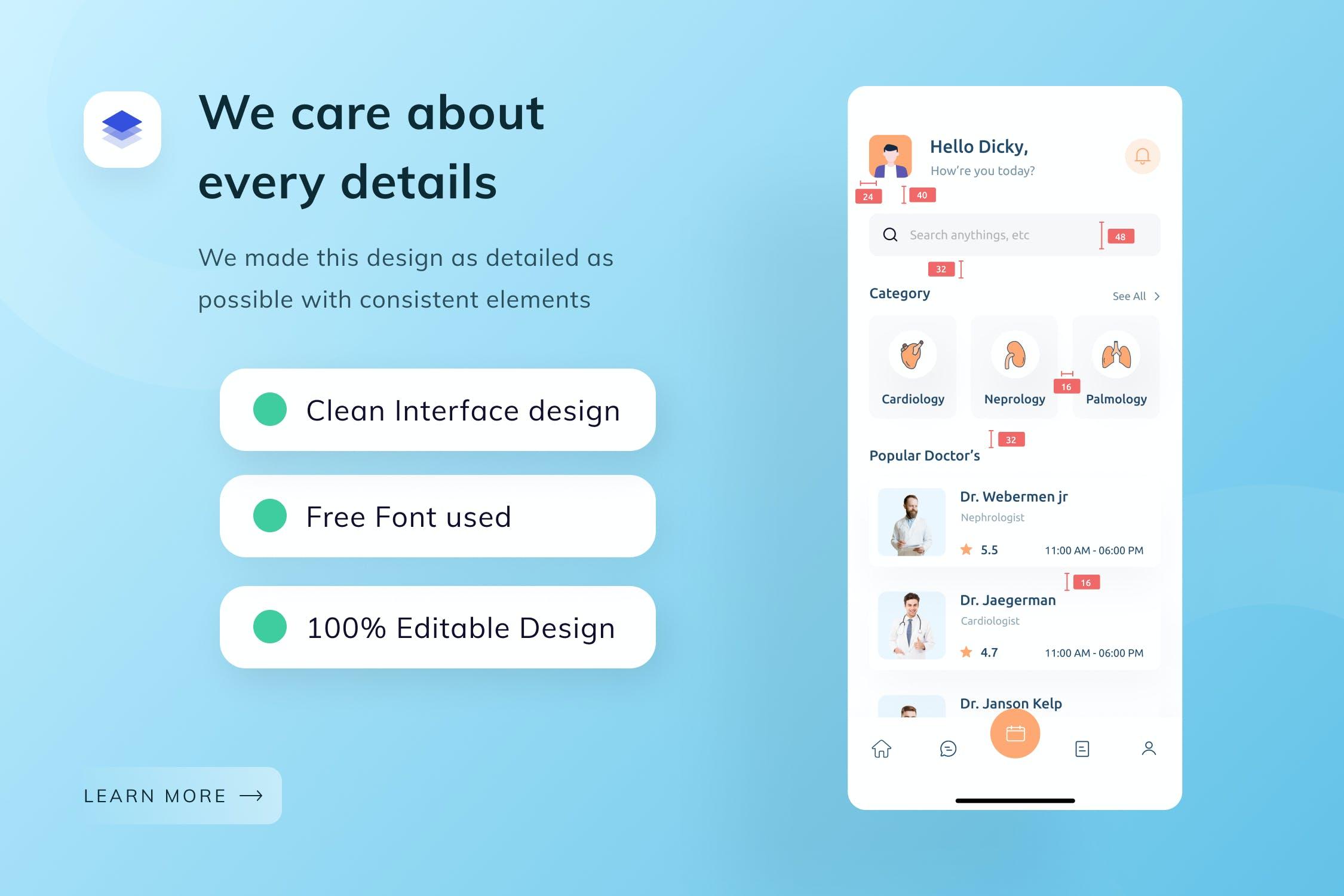 在线医生产品设计模板医疗预约APP UIdesignshidai_ui192