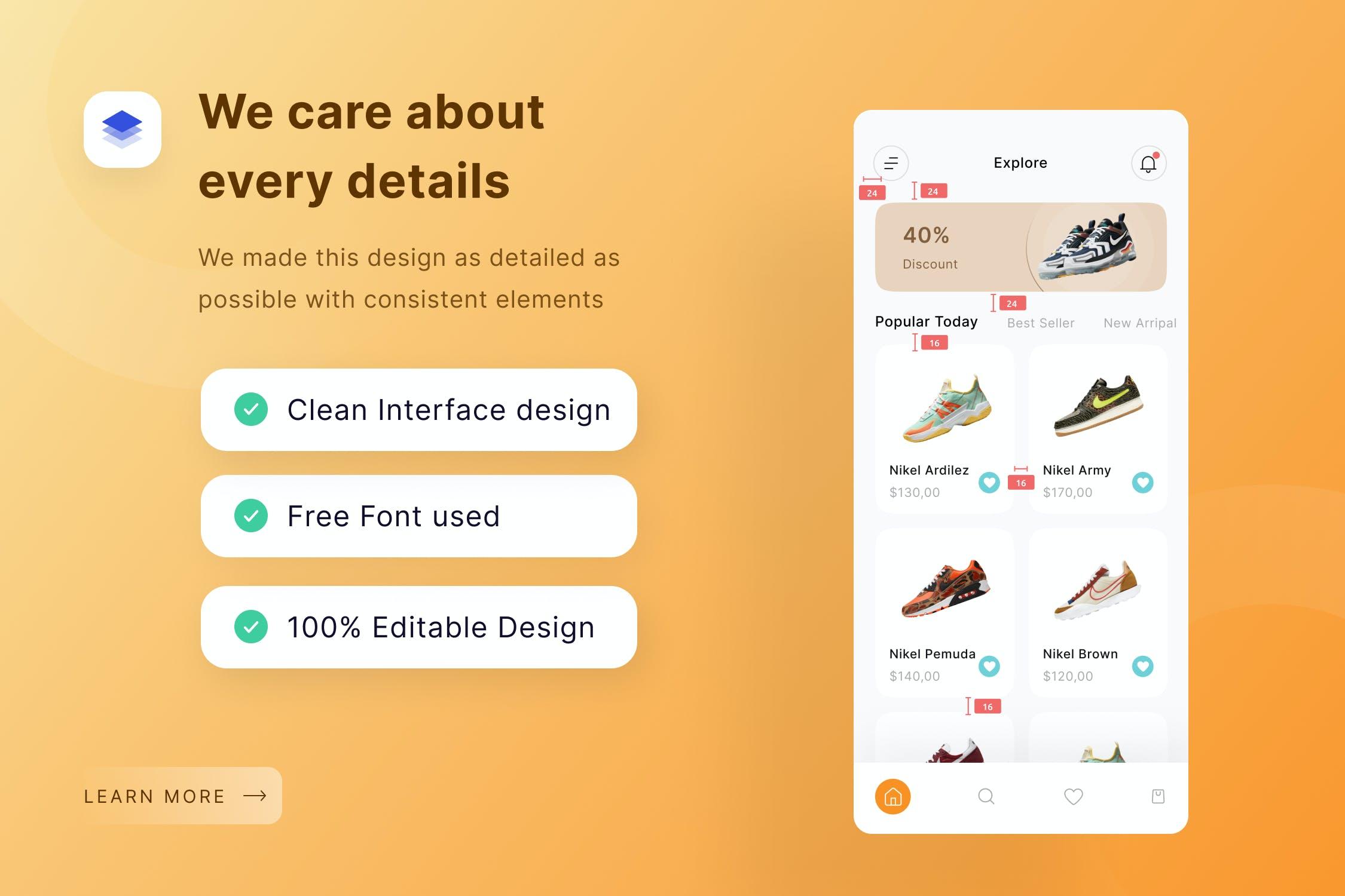 消费生活购物产品设计鞋子电商APP UI designshidai_ui194