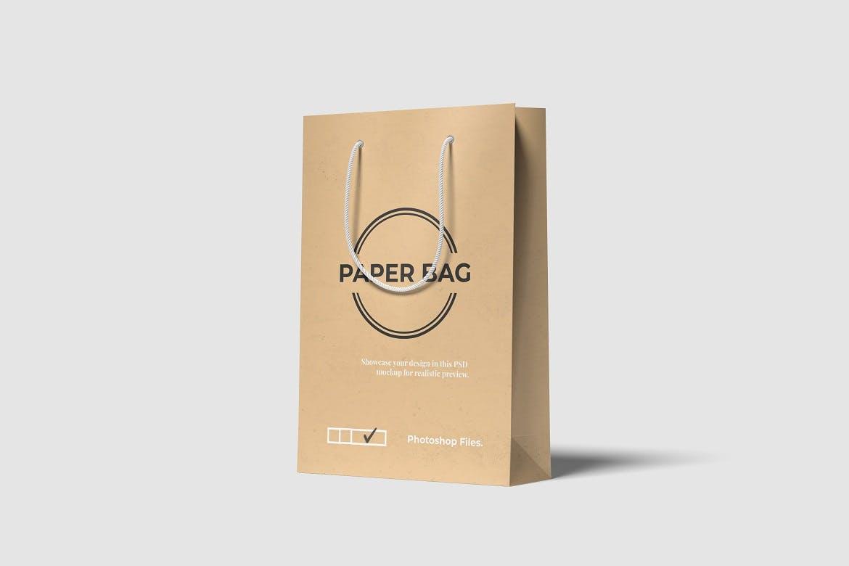 时尚高端高品质的手提袋购物袋包装袋设计VI样机展示模型mockups designshidai_yj673