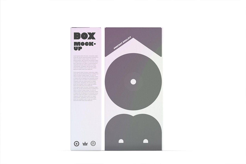 时尚简约好用的包装盒设计VI样机展示模型mockups designshidai_yj684