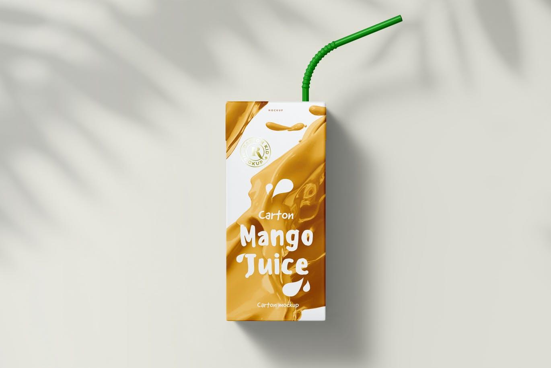 时尚高端逼真质感的高品质果汁牛奶包装设计VI样机展示模型mockups designshidai_yj699