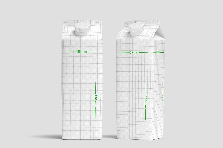 高品质的牛奶饮料包装设计VI样机展示模型mockups designshidai_yj700