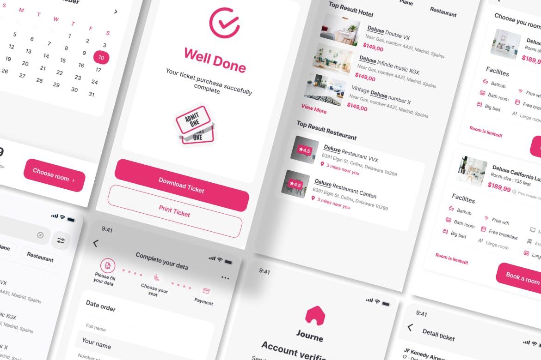 住宿移动用户界面套件 APP UI designshidai_ui208