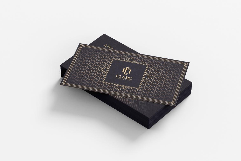 时尚高端专业奢华名片设计模板designshidai_yj632