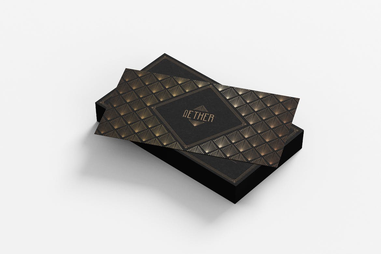 时尚专业高端名片设计模板designshidai_yj633