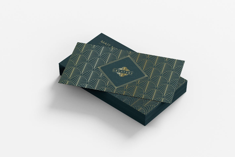 时尚高端奢华复古风格了不起的盖茨比风格名片设计模板designshidai_yj636