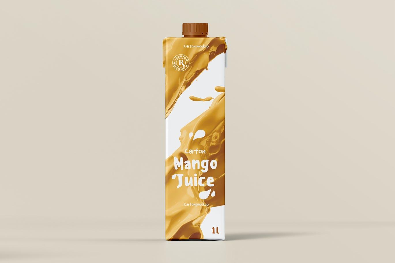 逼真质感的高品质牛奶饮料包装设计VI样机展示模型mockups designshidai_yj650