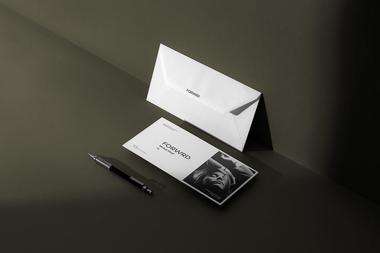 时尚高端专业的高品质优雅多用途品牌设计VI样机展示模型mockups designshidai_yj690