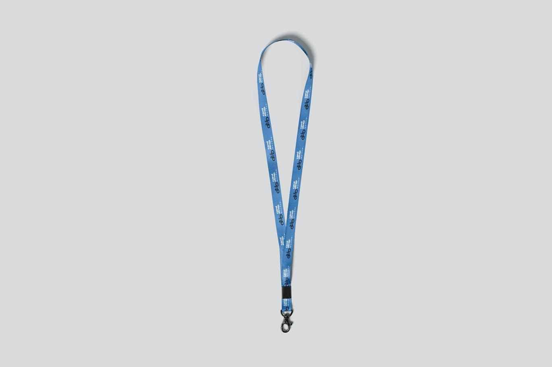 时尚高端专业的高品质工作证吊牌挂绳VI设计样机展示模型mockups designshidai_yj695