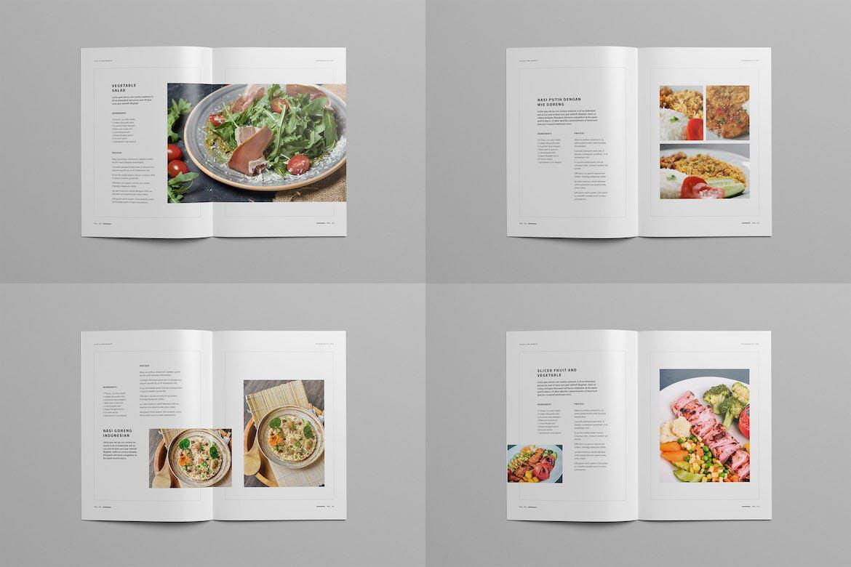 简约时尚高端清新多用途的菜单菜谱宣传册设计模板designshidai_yj619