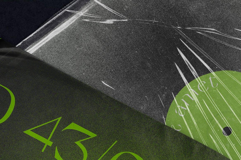 时尚高端专业的黑胶唱片封面塑料包装设计VI样机展示模型mockups designshidai_yj657