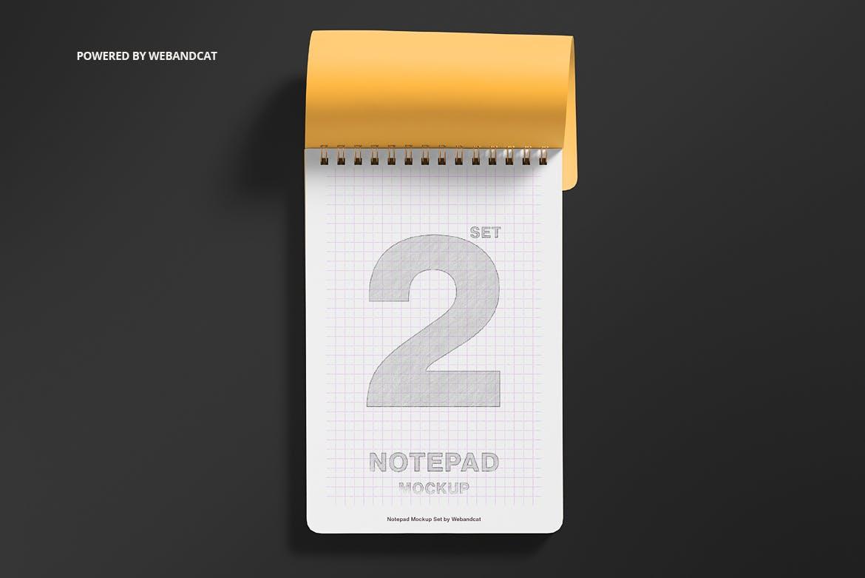 时尚高端逼真质感的高品质笔记本VI设计样机展示模型mockups designshidai_yj681