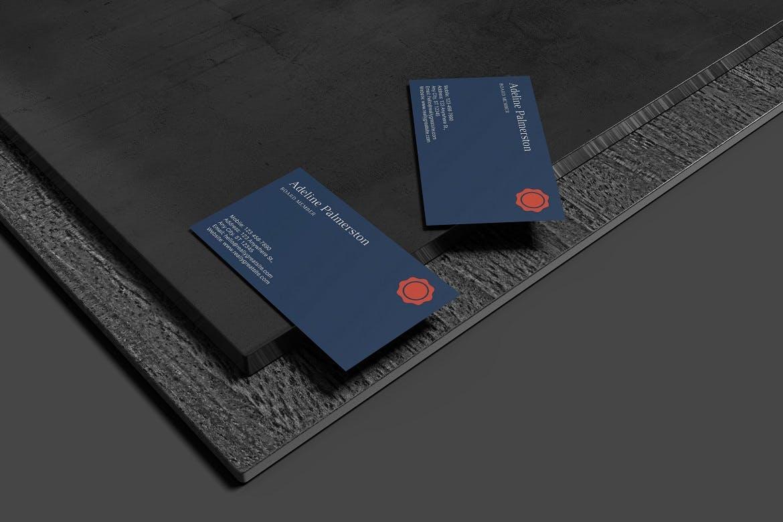 高端简约时尚多用途名片设计VI样机展示模型mockups designshidai_yj682