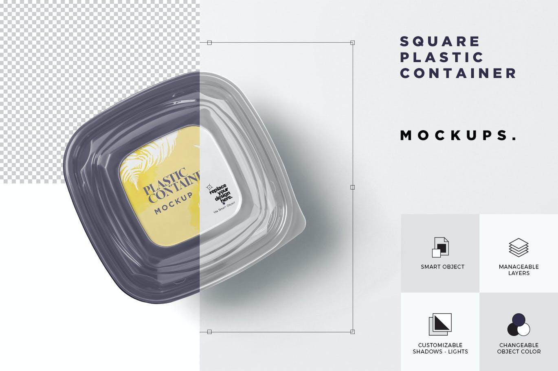 高品质的食品外卖包装设计VI样机展示模型mockups designshidai_yj694