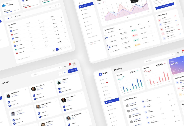 现代企业动态管理大数据仪表板后台网页模板designshidai_ui235
