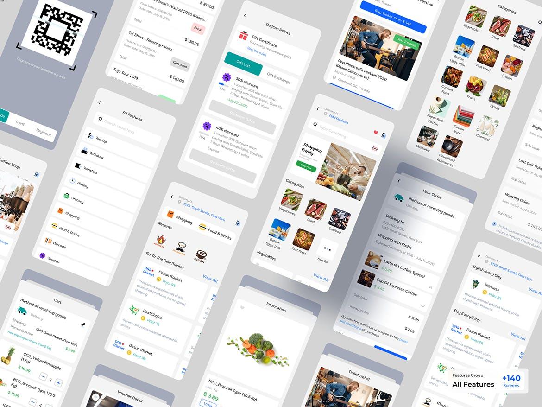 电子钱包数据应用程序Ui工具包designshidai_ui172