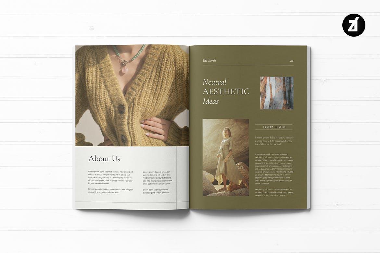 优雅时尚高端清新简约多用途地球环保健康品牌手册画册宣传册杂志房地产楼书设计模板designshidai_yj620