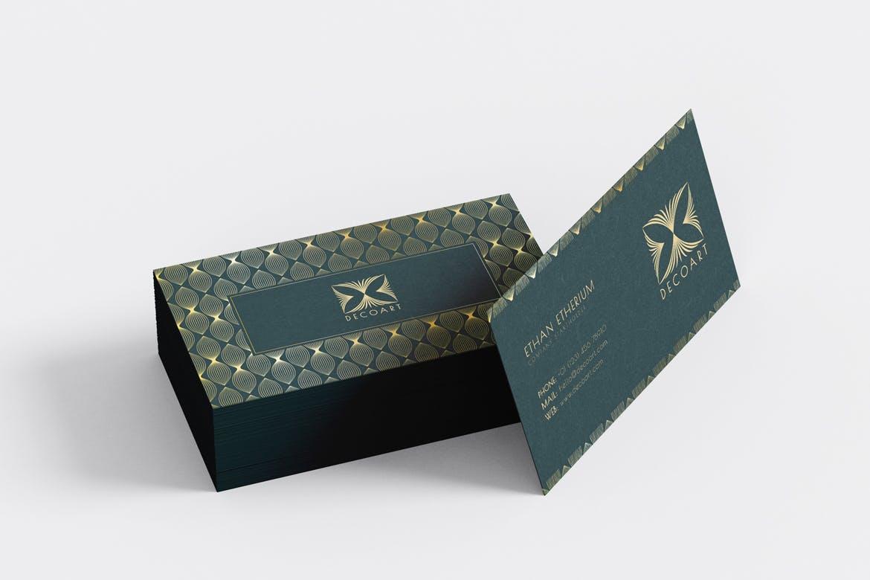 时尚高端专业奢华名片设计模板designshidai_yj634