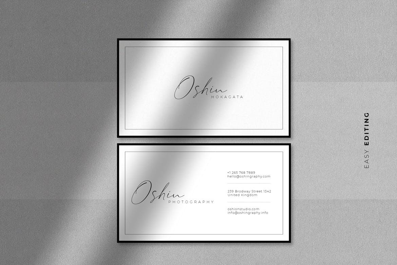 清新时尚高端简约优雅多用途极简名片设计模板designshidai_yj640