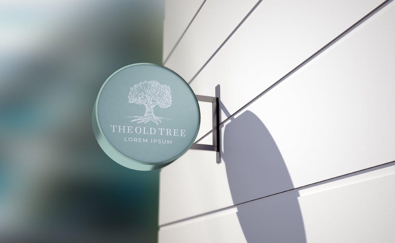 时尚高端专业的高品质商业街logo标志设计VI样机展示模型mockups designshidai_yj660