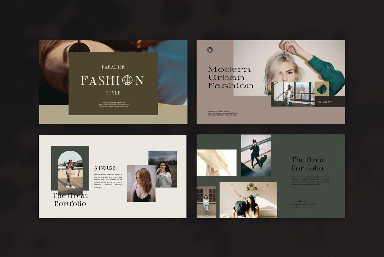 时尚高端简约优雅多用途的powerpoint幻灯片演示模板designshidai_ppt0157