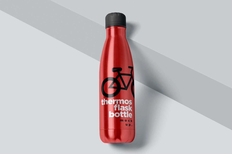时尚高端专业的高品质真空瓶包装设计VI样机展示模型mockups designshidai_yj730