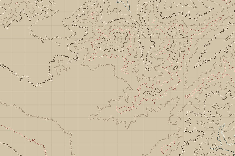 时尚高端抽象地理地形等高线矢量背景底纹纹理集合designshidai_beijing143