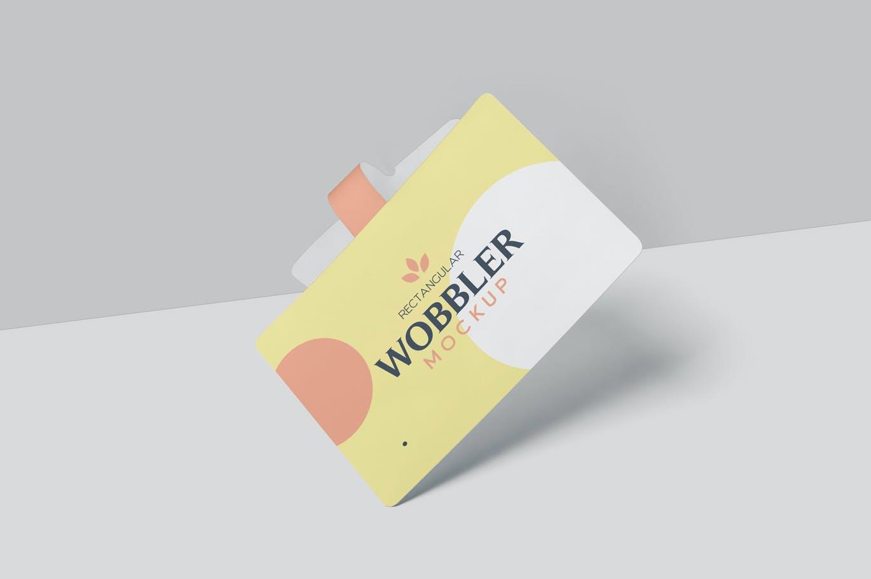 少见稀有的要黄标签设计VI样机展示模型mockups designshidai_yj729