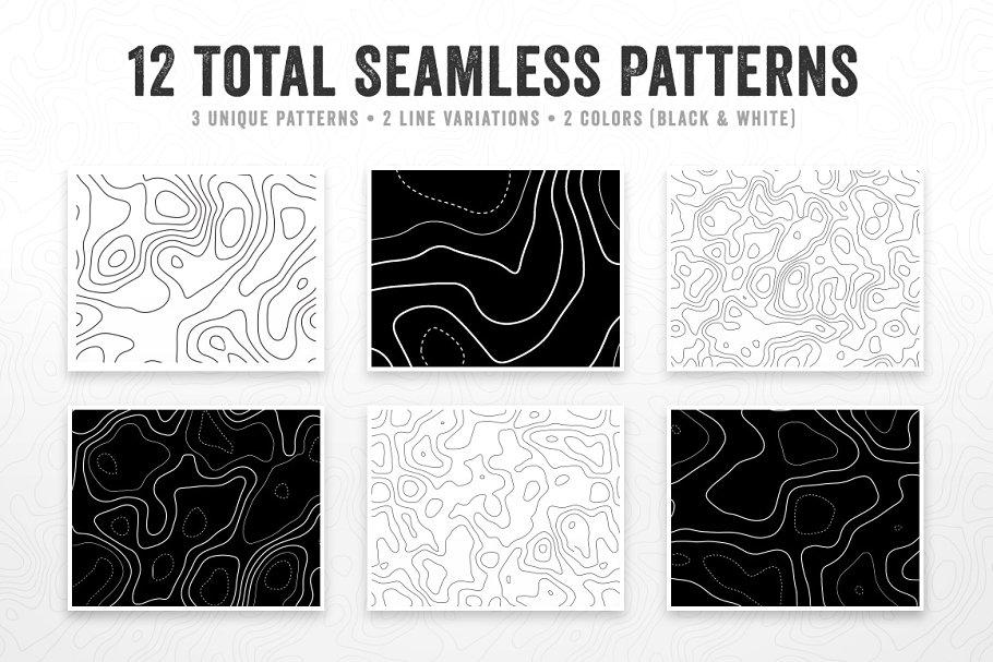 无缝的地形模式背景纹理designshidai_beijing155