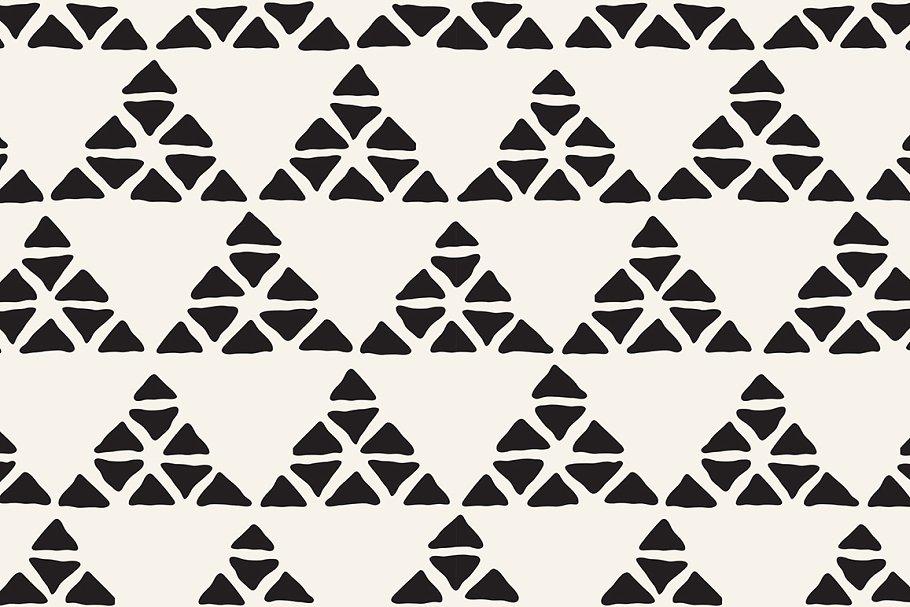 矢量几何复古原始部落图案背景纹理designshidai_beijing158