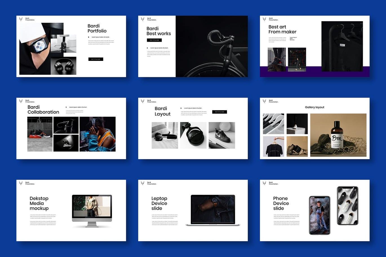 时尚高端商业商务质感powerpoint幻灯片演示模板designshidai_ppt0156