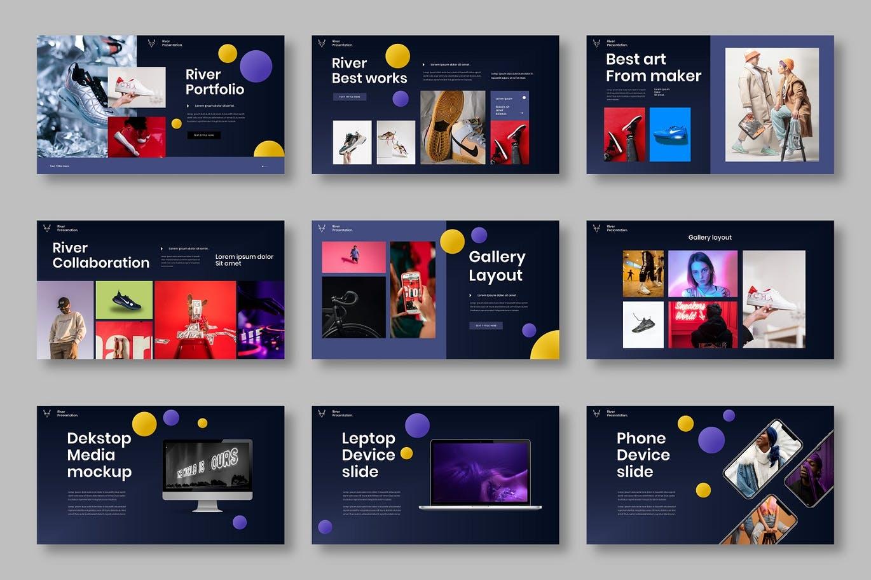 时尚高端专业的演示PPT模板高品质商业商务提案powerpoint幻灯片演示模板designshidai_ppt0168
