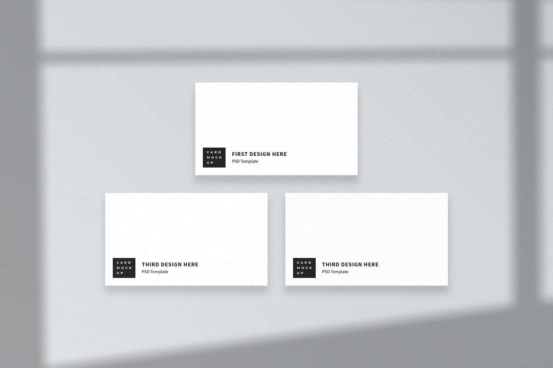 极简逼真商务风名片产品样机designshidai_yj757