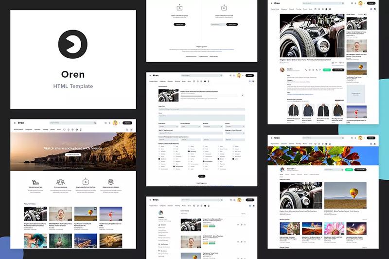 视频共享网站搭建HTML模板designshidai_ui279