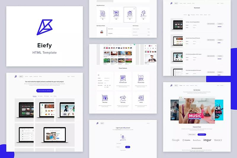 在线商城网站着陆页设计HTML模板designshidai_ui280