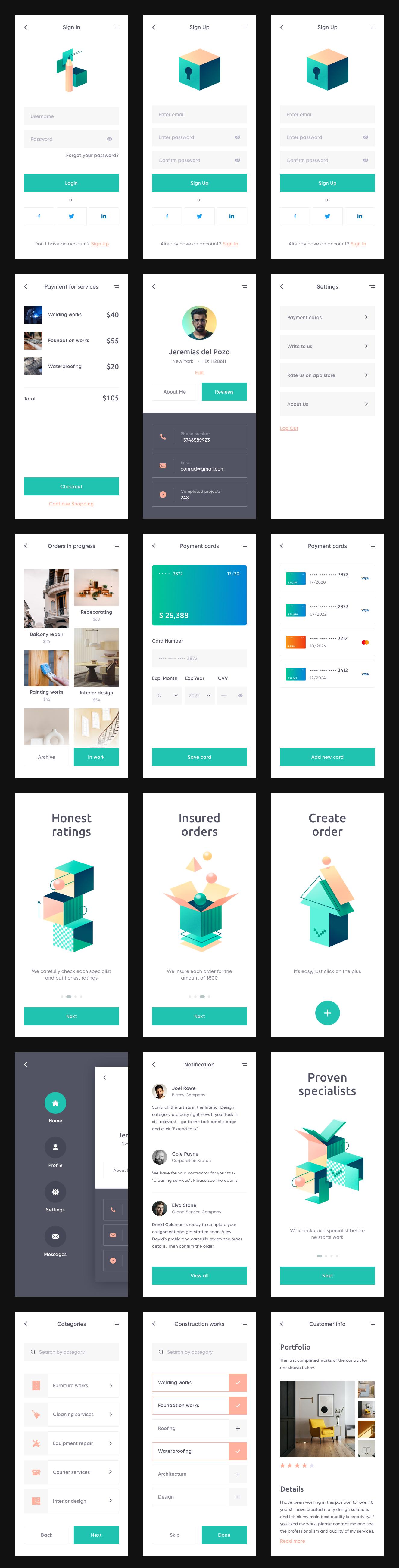 极简应用程序页面UI工具包designshidai_ui305