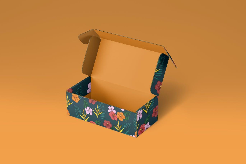 高品质的快递包装VI设计样机展示模型mockups designshidai_yj716