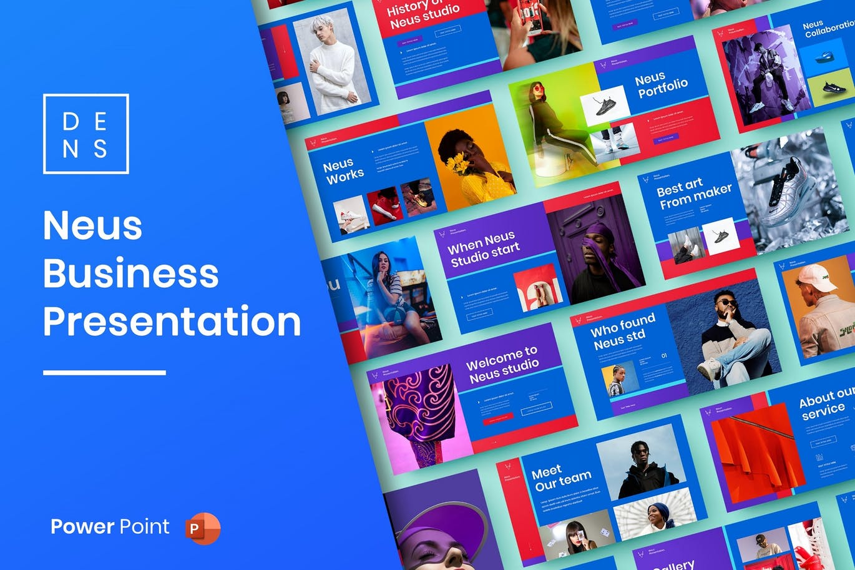 时尚高端绚丽的高品质商业商务powerpoint幻灯片演示模板designshidai_ppt0166