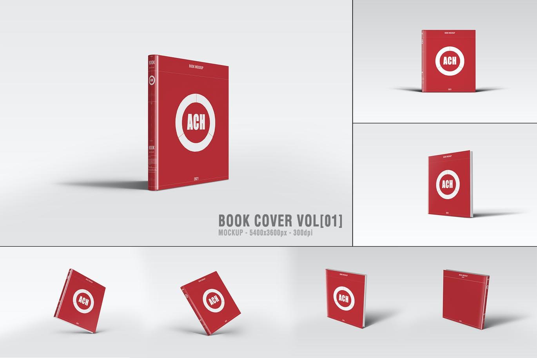 高品质的书籍装帧封面包装设计VI样机展示模型mockups designshidai_yj718