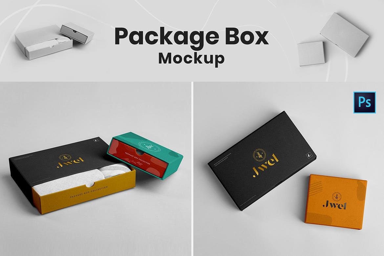 高品质的时尚高端包装设计VI样机展示模型mockups designshidai_yj719