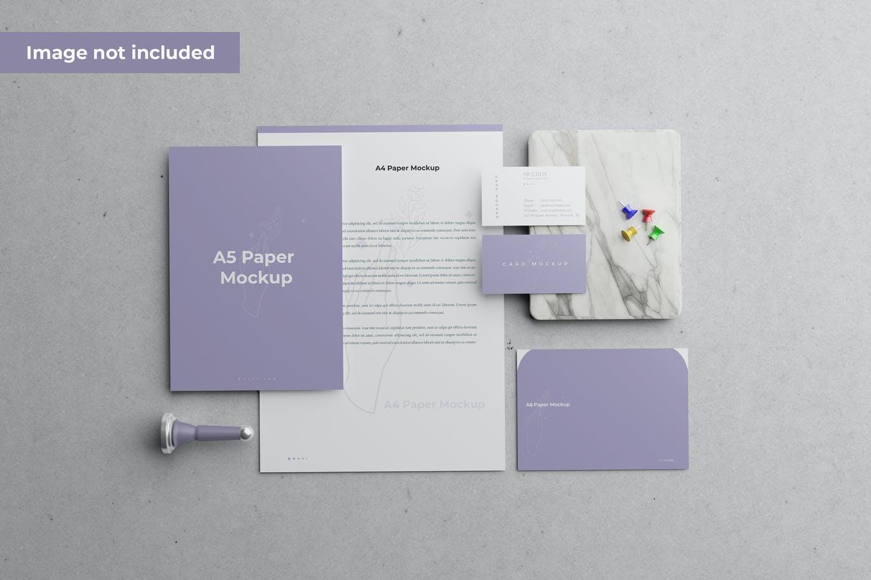 简约好用的文具品牌设计VI样机展示模型mockups designshidai_yj737